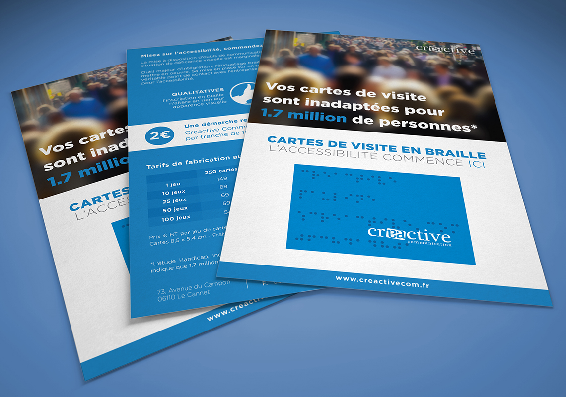 Flyers Cartes De Visite En Braille Julien Boitel Webdesign Et Photographie